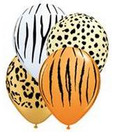jungle / safari  Balloons 11 inch.