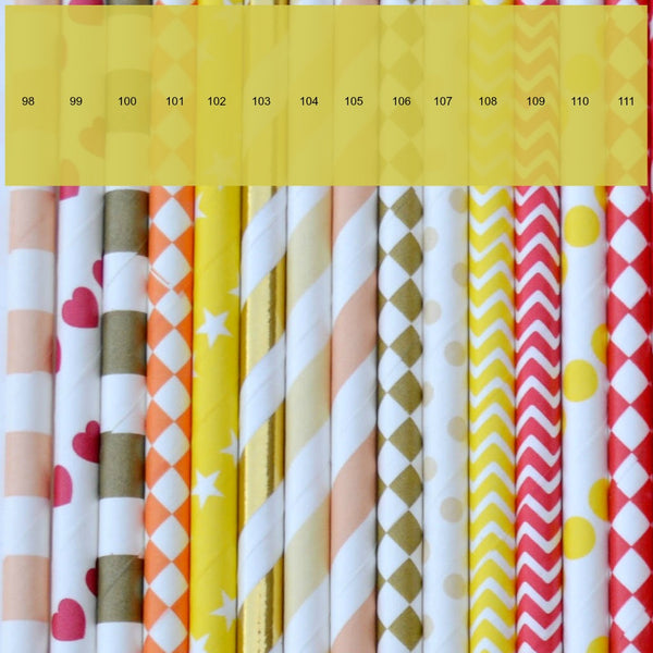 paper straw choices