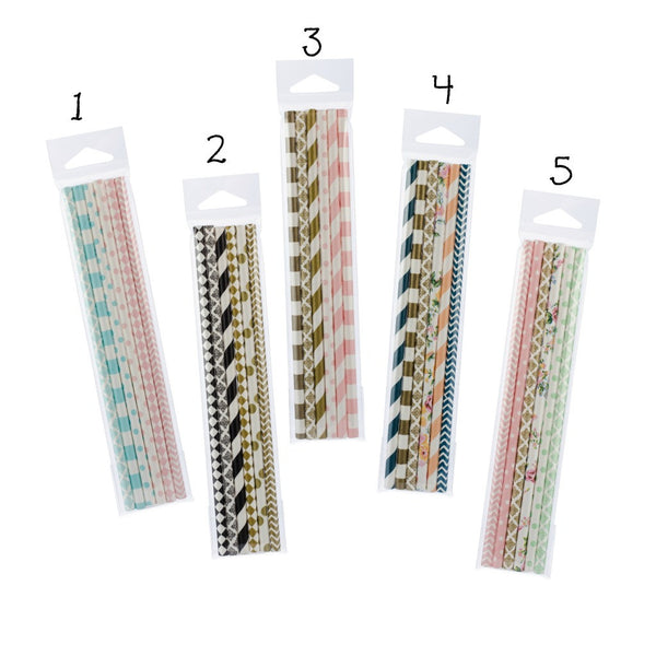 paper straw party favors