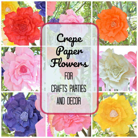 Decorative Crepe Paper Flowers