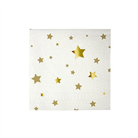 Toot Sweet Small Gold Star Paper Napkins
