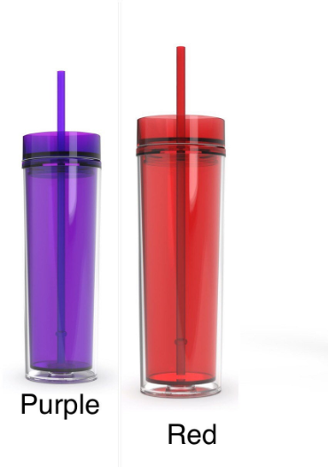 Clear Custom Tumbler with Straw