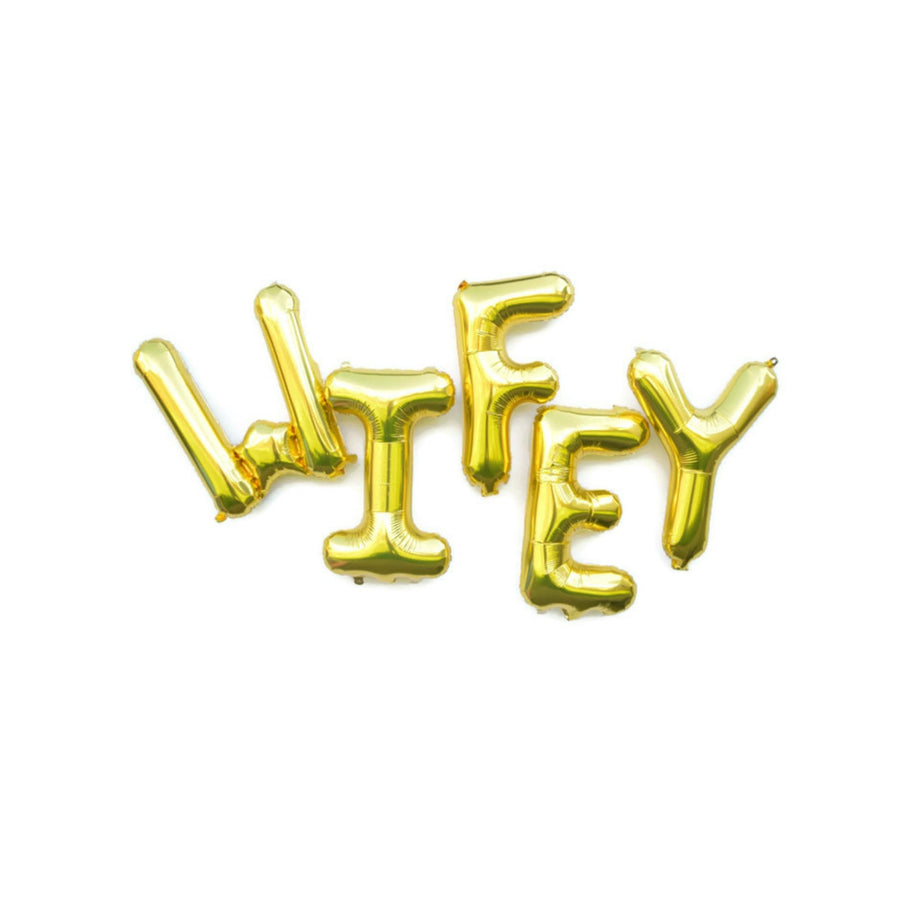 gold wifey balloon