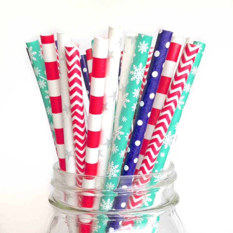 christmas party straws
