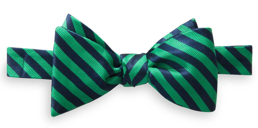 Southern Tide Regimental Stripe Bow Tie - Green