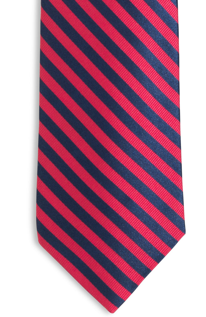Southern Tide Regimental Stripe Tie - Red