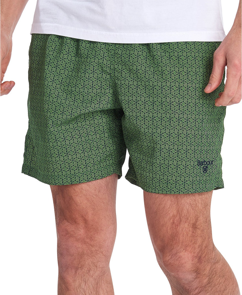 Barbour Geo-Print Swim Trunks - Green