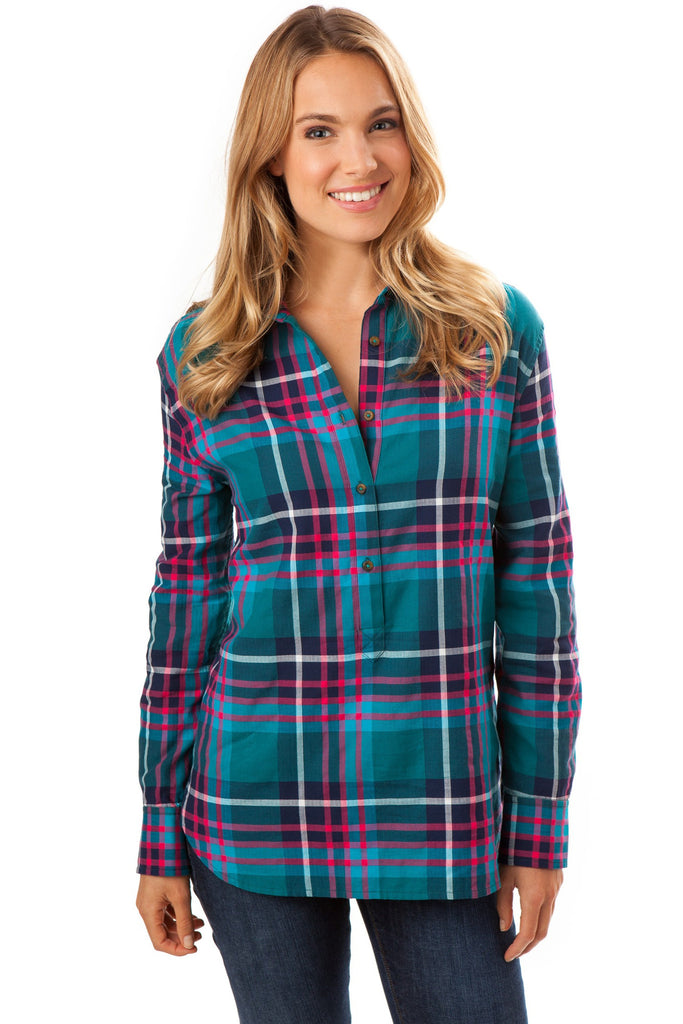 Southern Tide Hadley Popover - Spruce Plaid