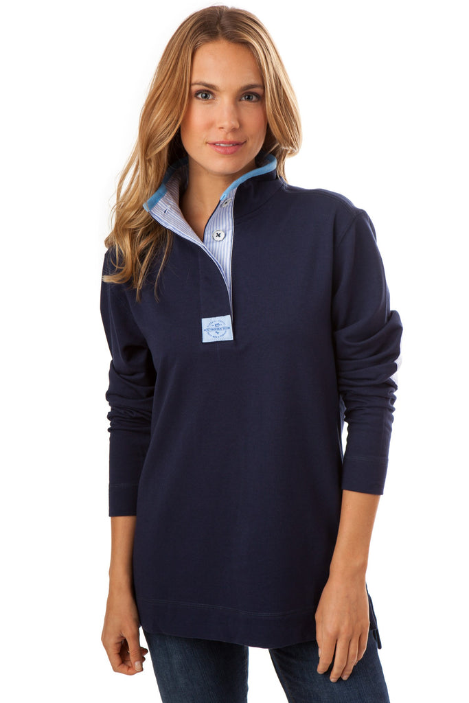 Southern Tide Solid Skiptide Pullover - Nautical Navy