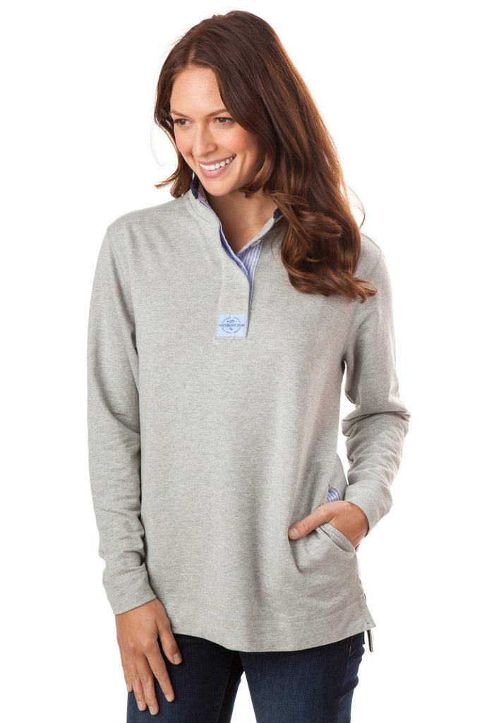 Southern Tide Women's Solid Skiptide Pullover - Heathered Gray