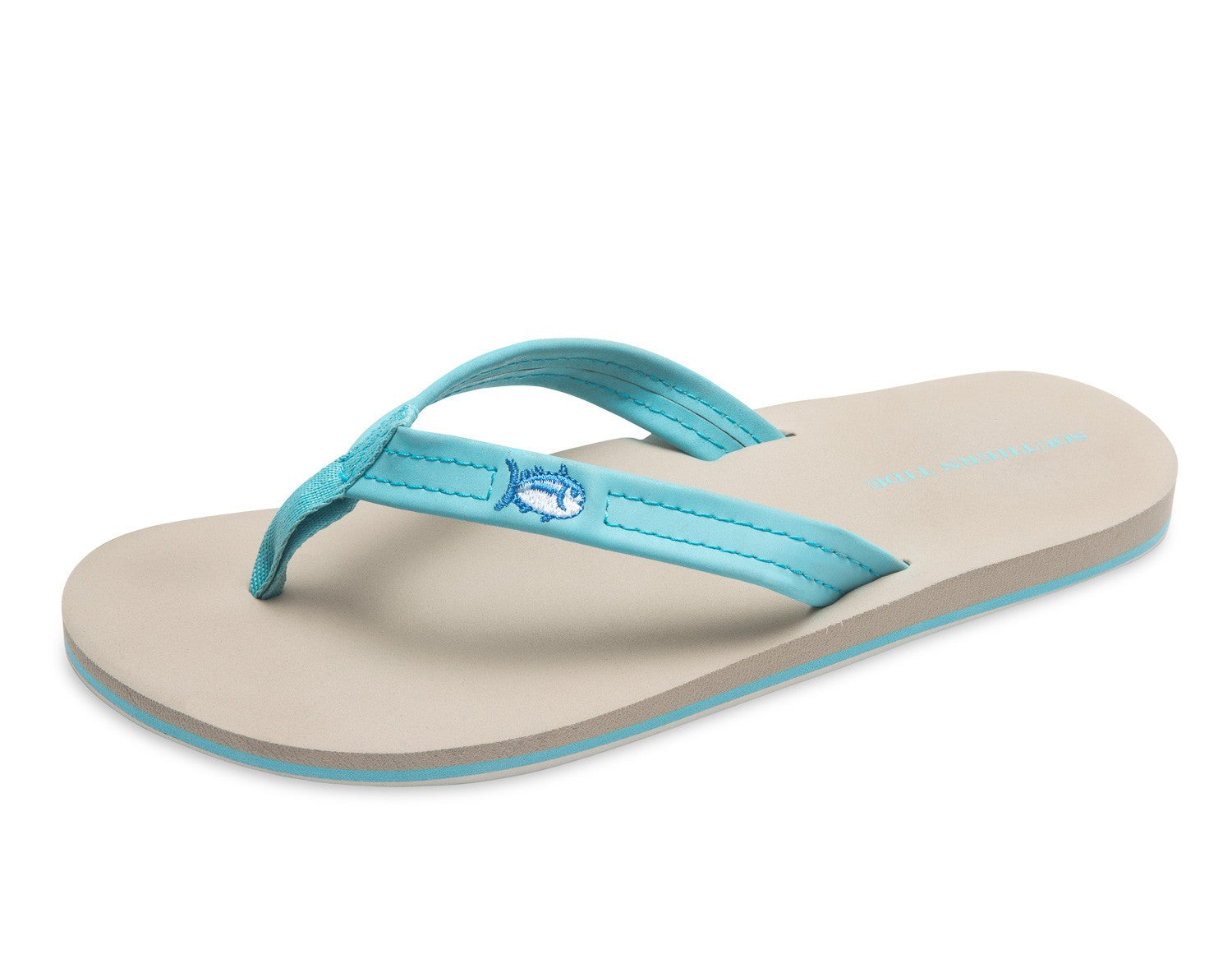 Southern Tide Women's Weekend Flipjacks - Crystal Blue Front View