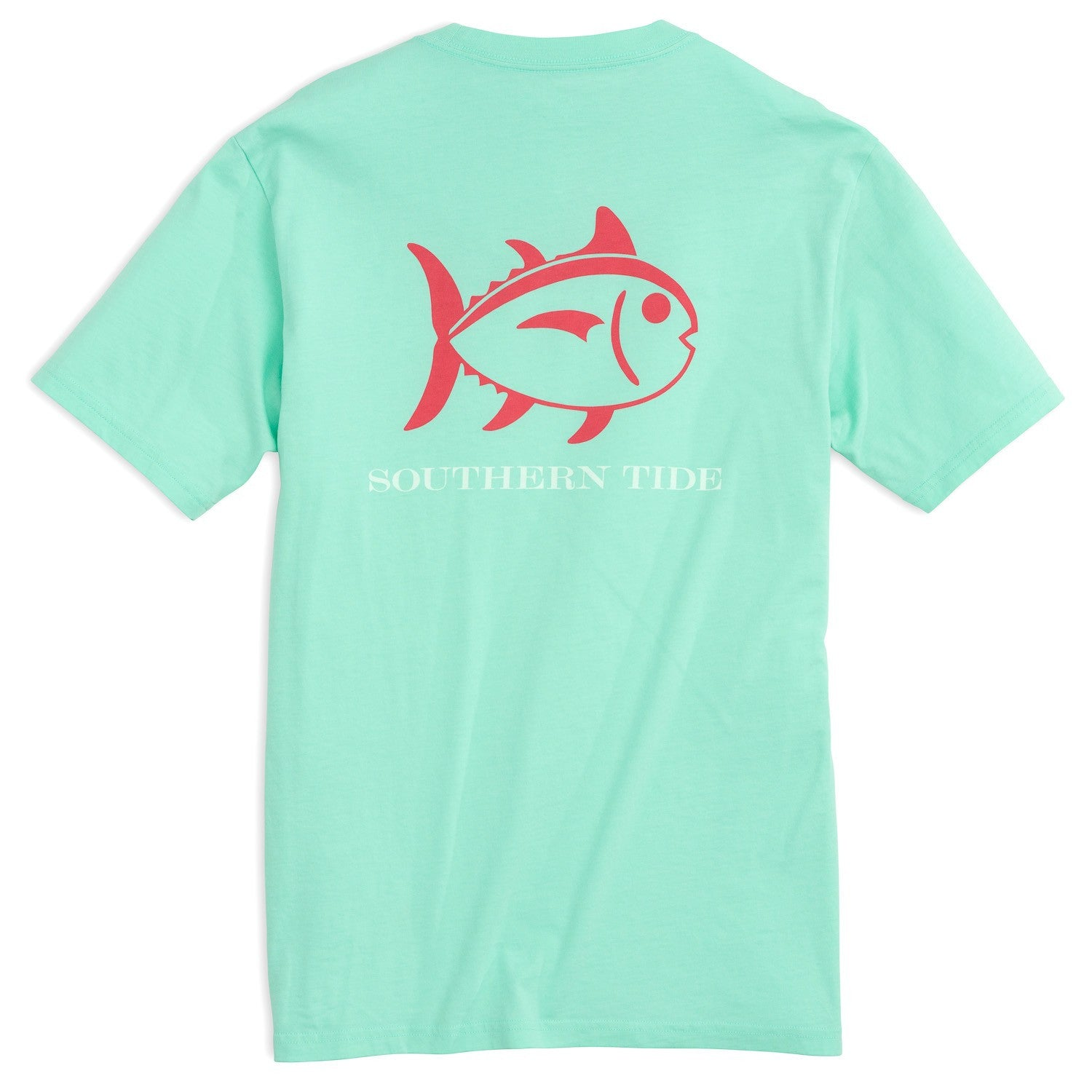 Southern Tide Beachside Outline Skipjack T-Shirt - Offshore Green Back View