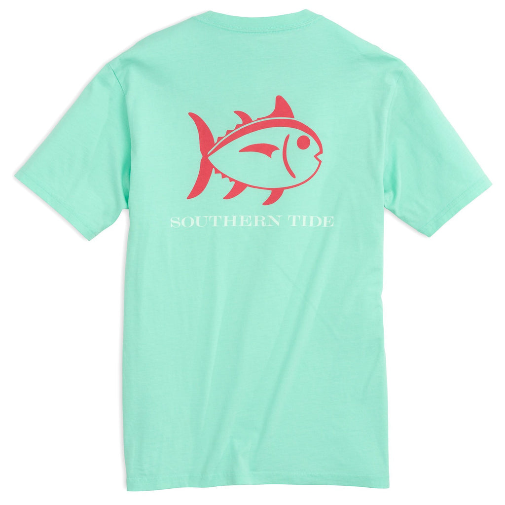 Southern Tide Beachside Outline Skipjack T-Shirt - Offshore Green