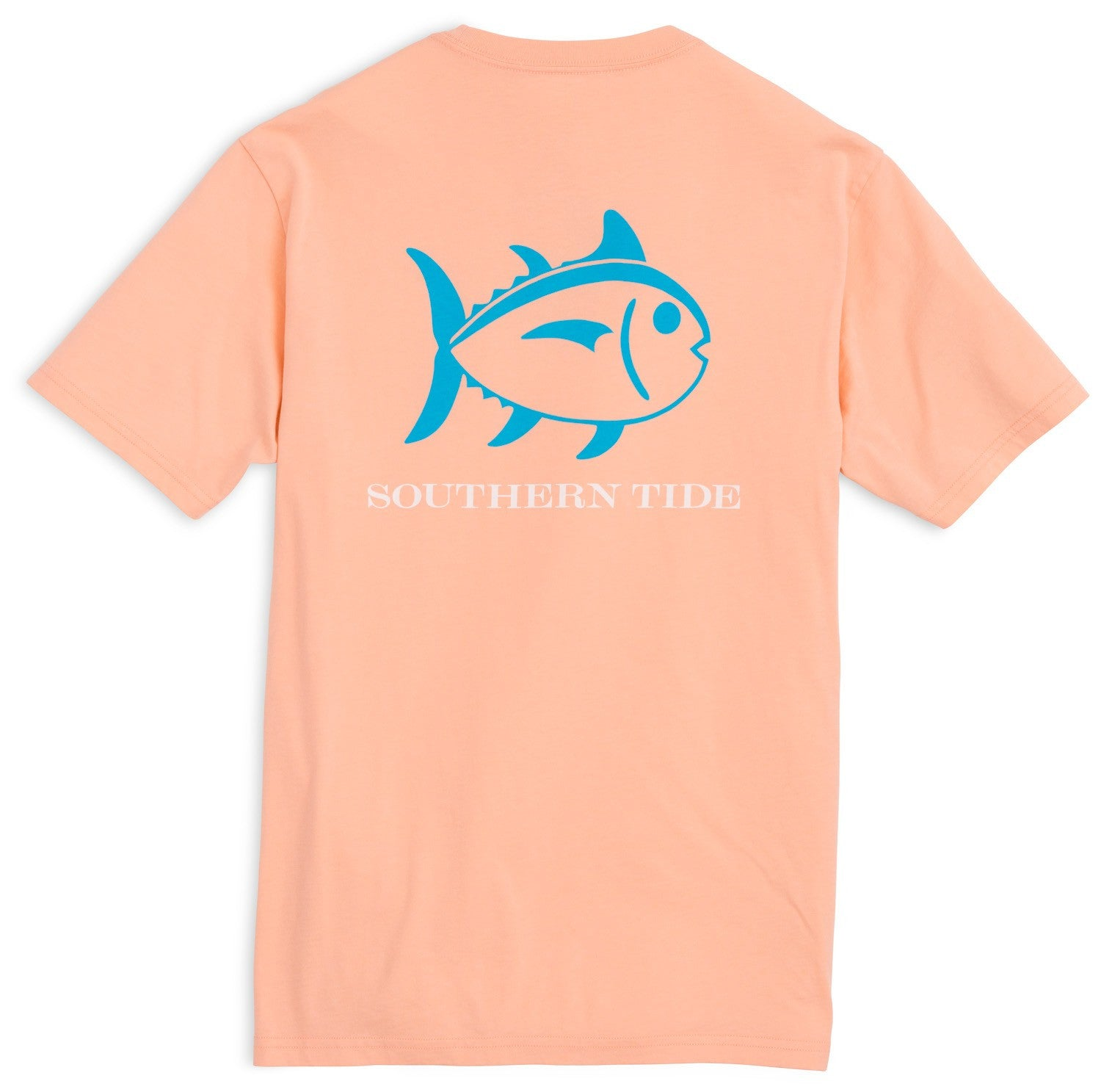 Southern Tide Beachside Outline Skipjack T-Shirt - Peach Fizz Back View