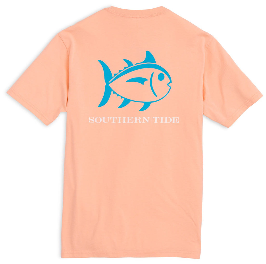 Southern Tide Beachside Outline Skipjack T-Shirt - Peach Fizz