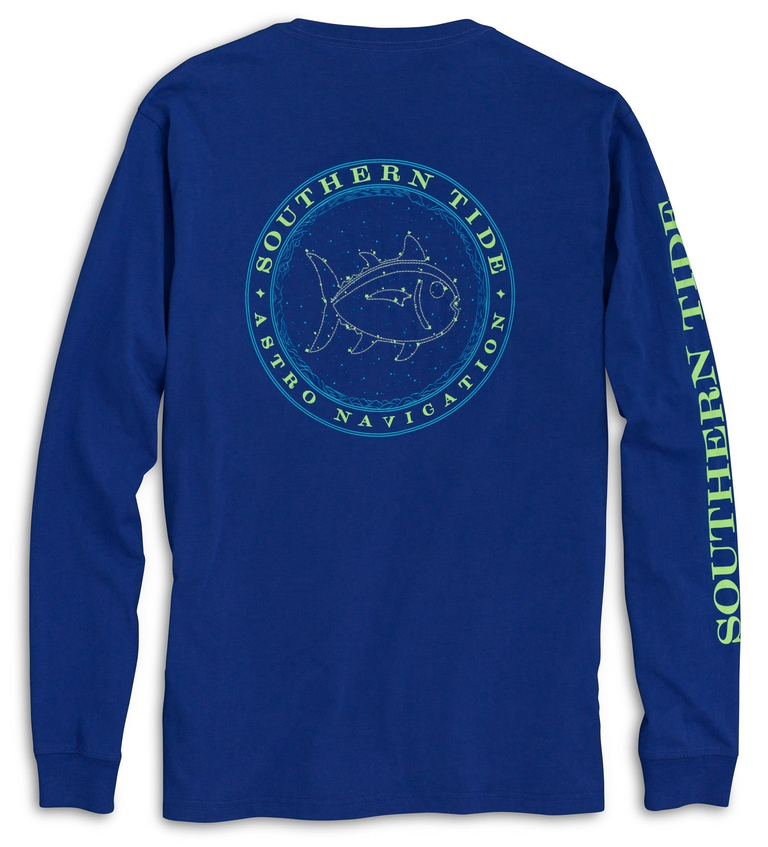 Southern Tide Astro Navigation Long Sleeve T-Shirt - Blue Cove Back View