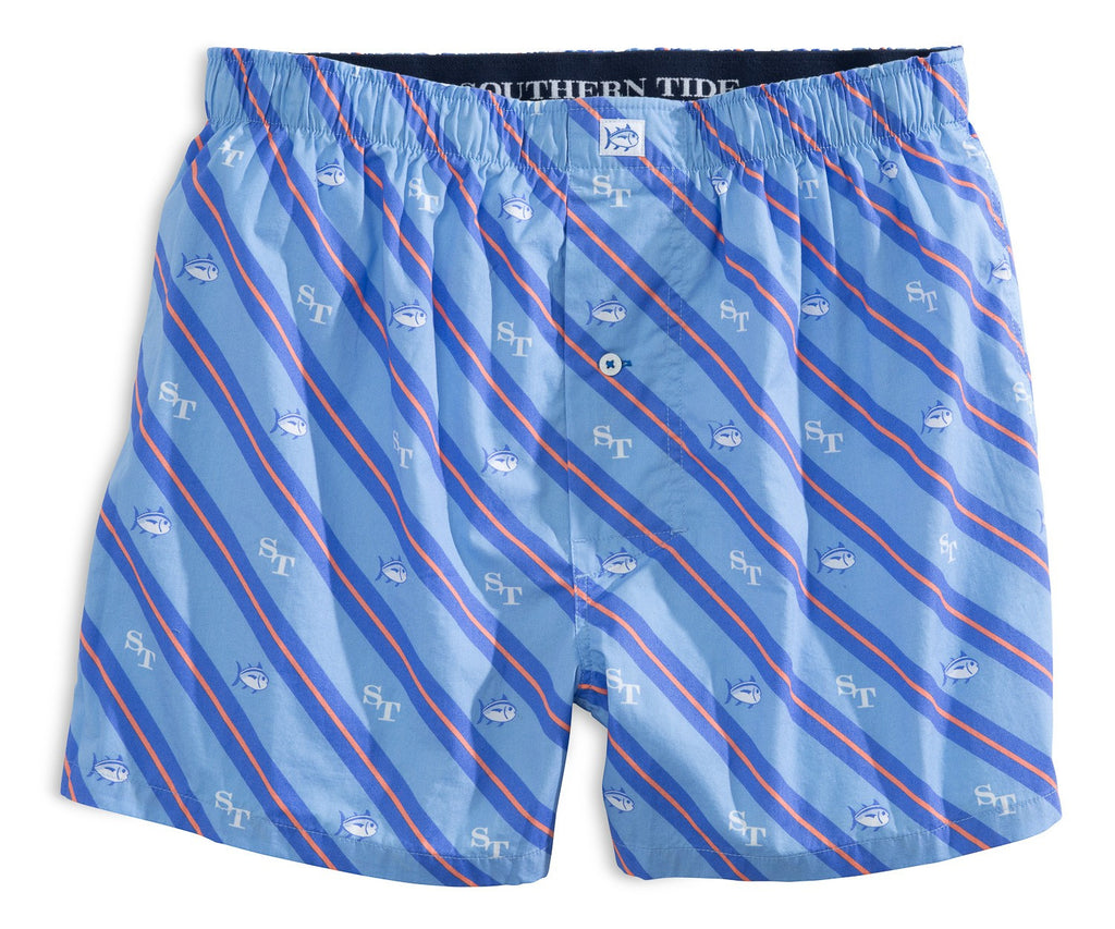 Southern Tide South Seaside Stripe Boxer - Ocean Channel