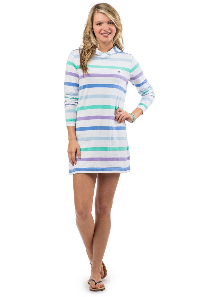Southern Tide Beachcomber Stripe Dress - Classic White