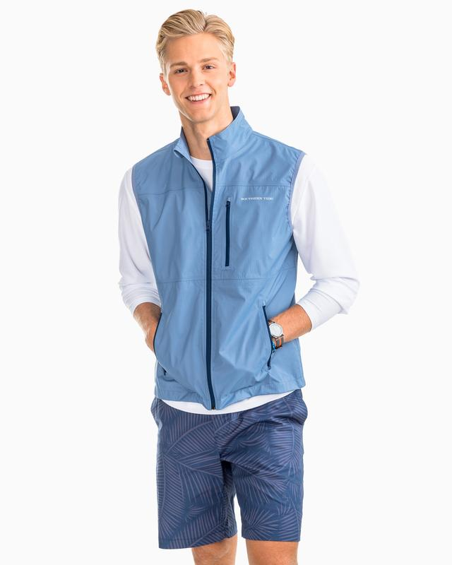 Southern Tide Mens Southport Vest - Squall Grey
