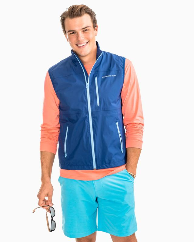 Southern Tide Mens Southport Vest - Blue Night