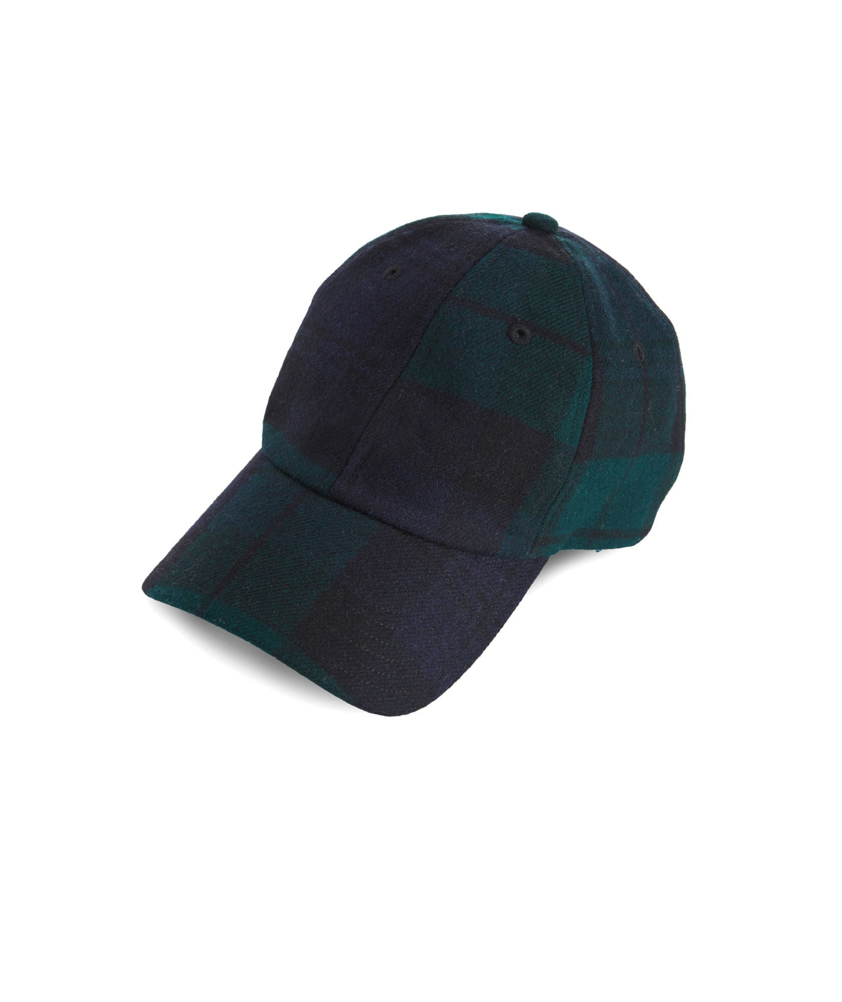 Front View Vineyard Vines Black Watch Baseball Hat in Charleston Green