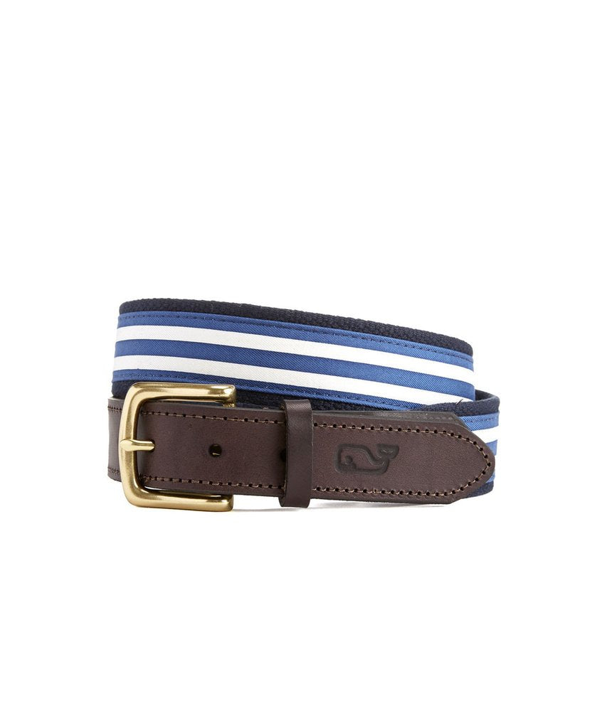 Vineyard Vines Edgartown Stripe Canvas Club Belt
