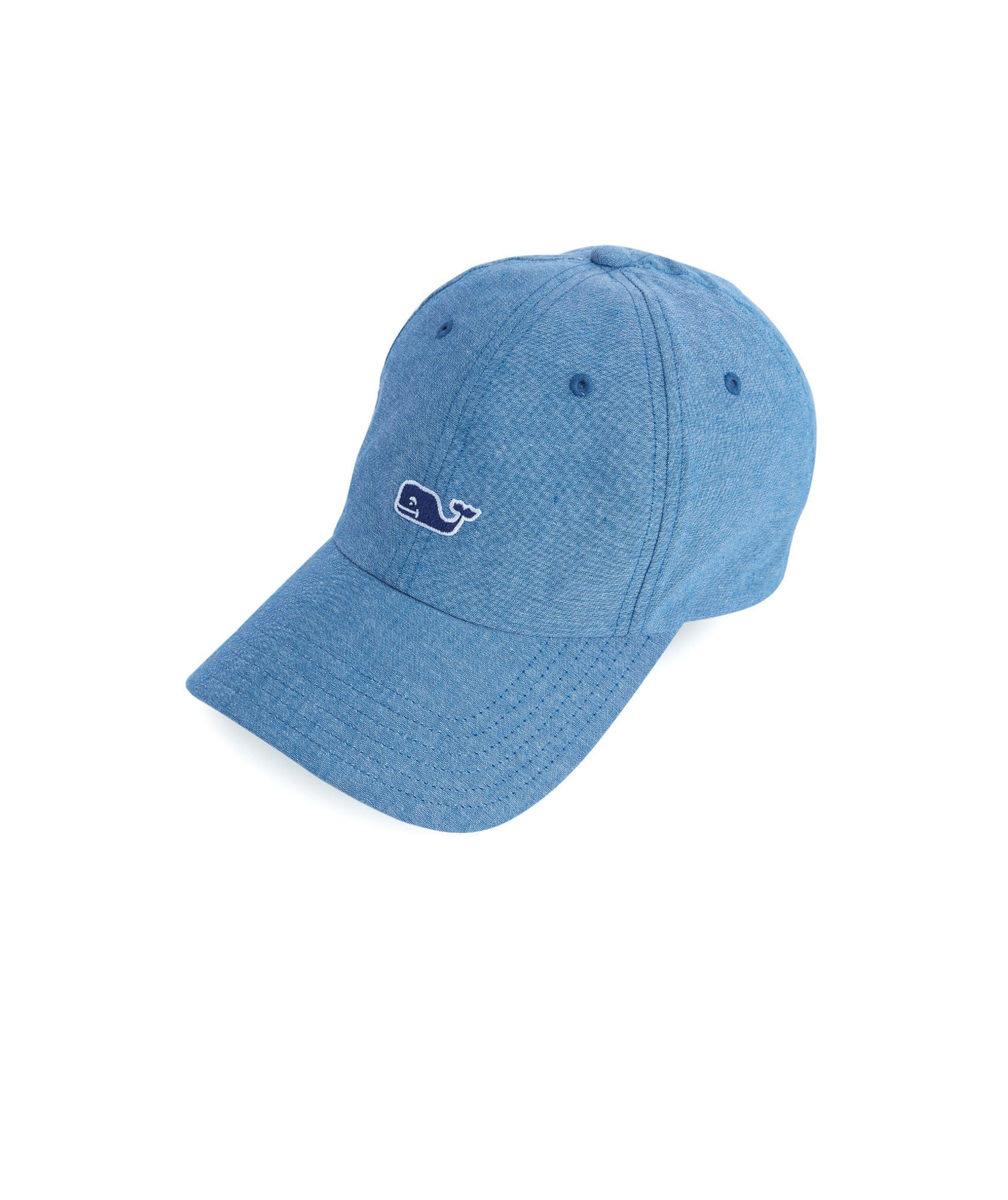 Vineyard Vines Linen Chambray Baseball Hat - Moonshine Front View