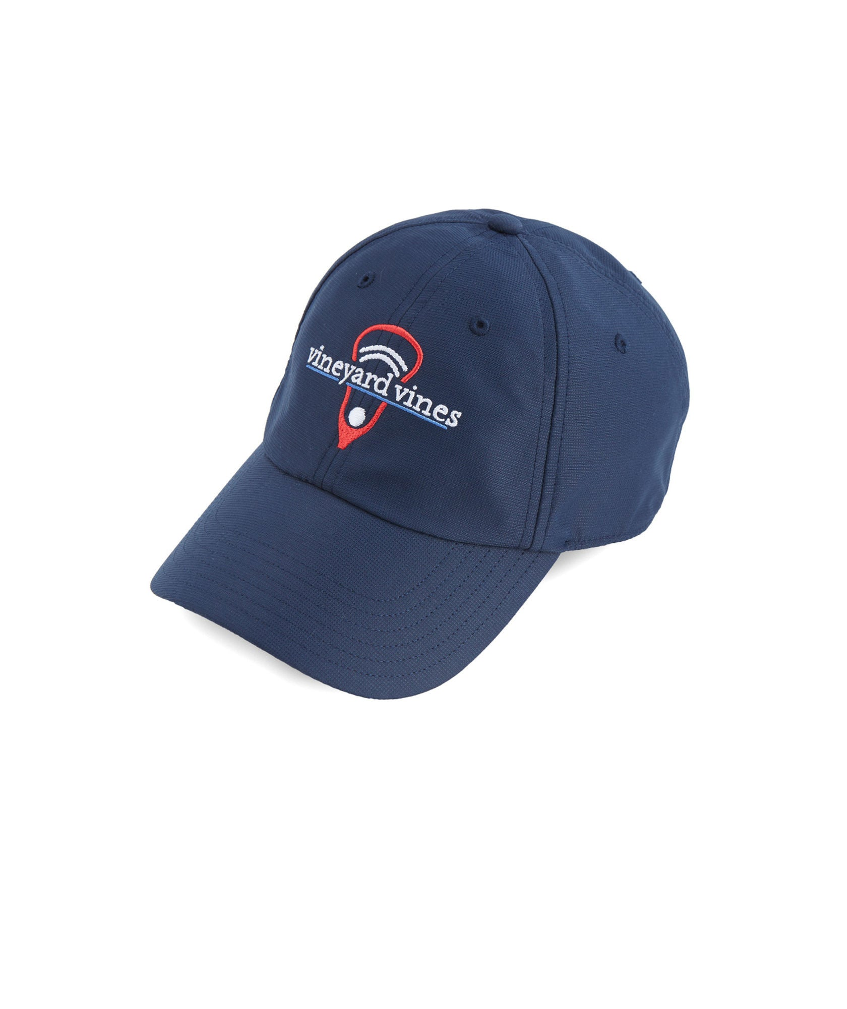 Vineyard Vines Lax Performance Hat - Vineyard Navy Front View
