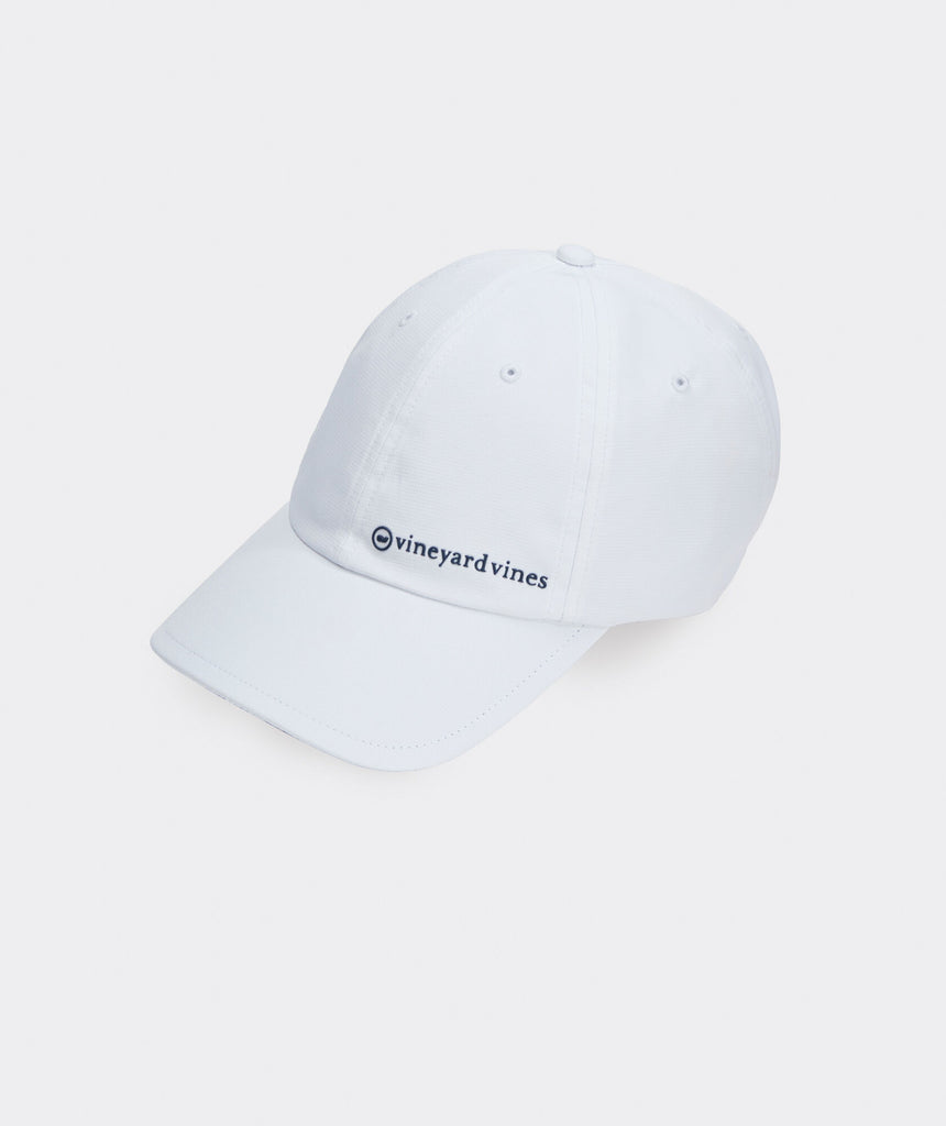 Vineyard Vines On-The-Go Performance Baseball Hat - White Cap