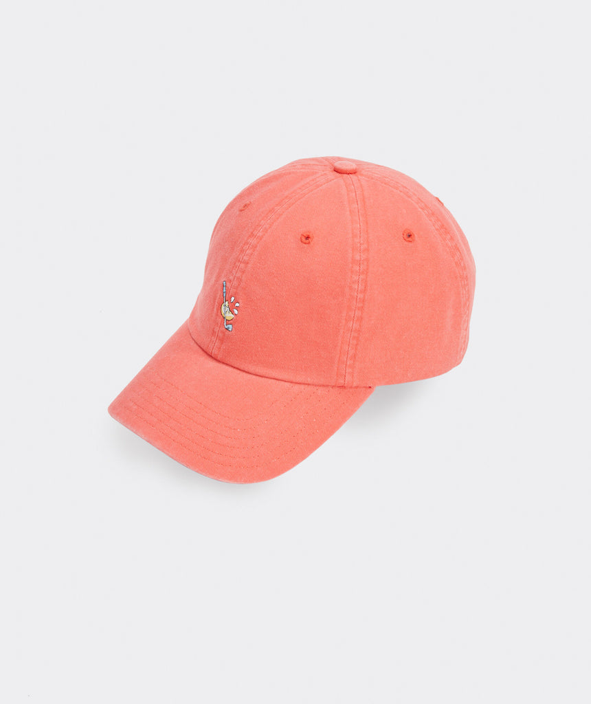 Vineyard Vines Lemon Wedge Icon Baseball Hat - Jetty Red