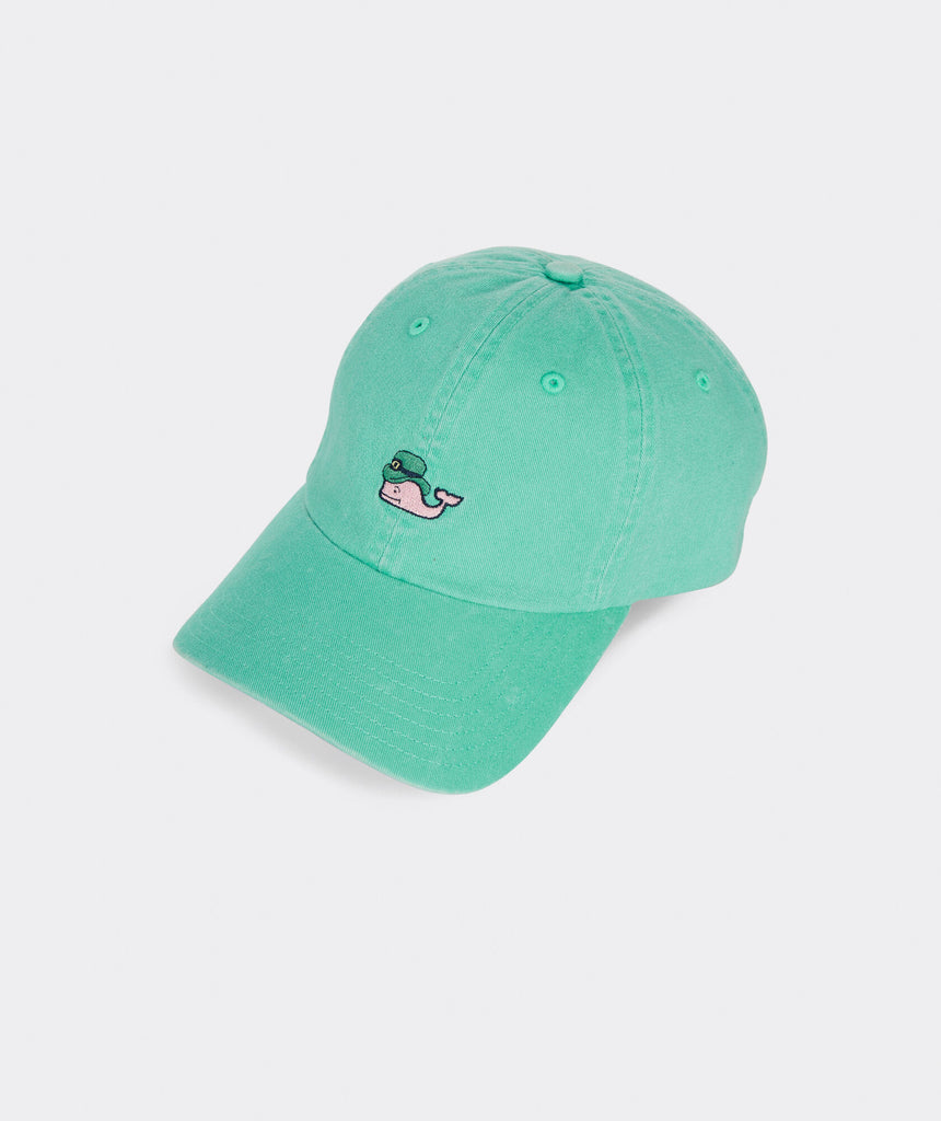 Vineyard Vines Leprechaun Whale Baseball Hat - Emerald