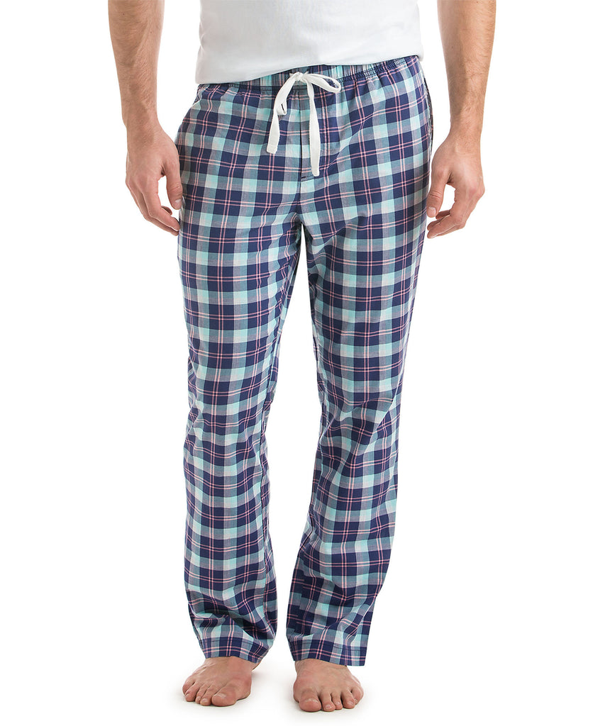 Vineyard Vines Men's Cappoons Plaid Lounge Pants - Deep Cobalt