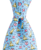 Front View Vineyard Vines Labrador & Gift Tie in Light Blue