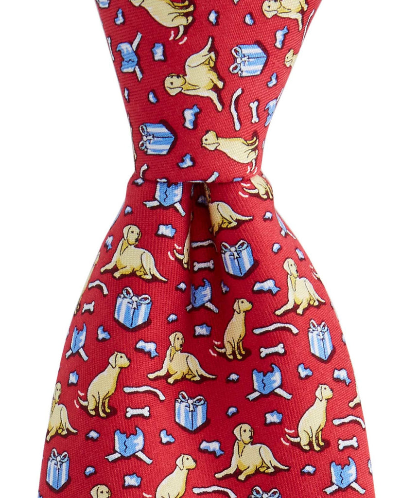 Vineyard Vines Labrador & Gift Tie - Red