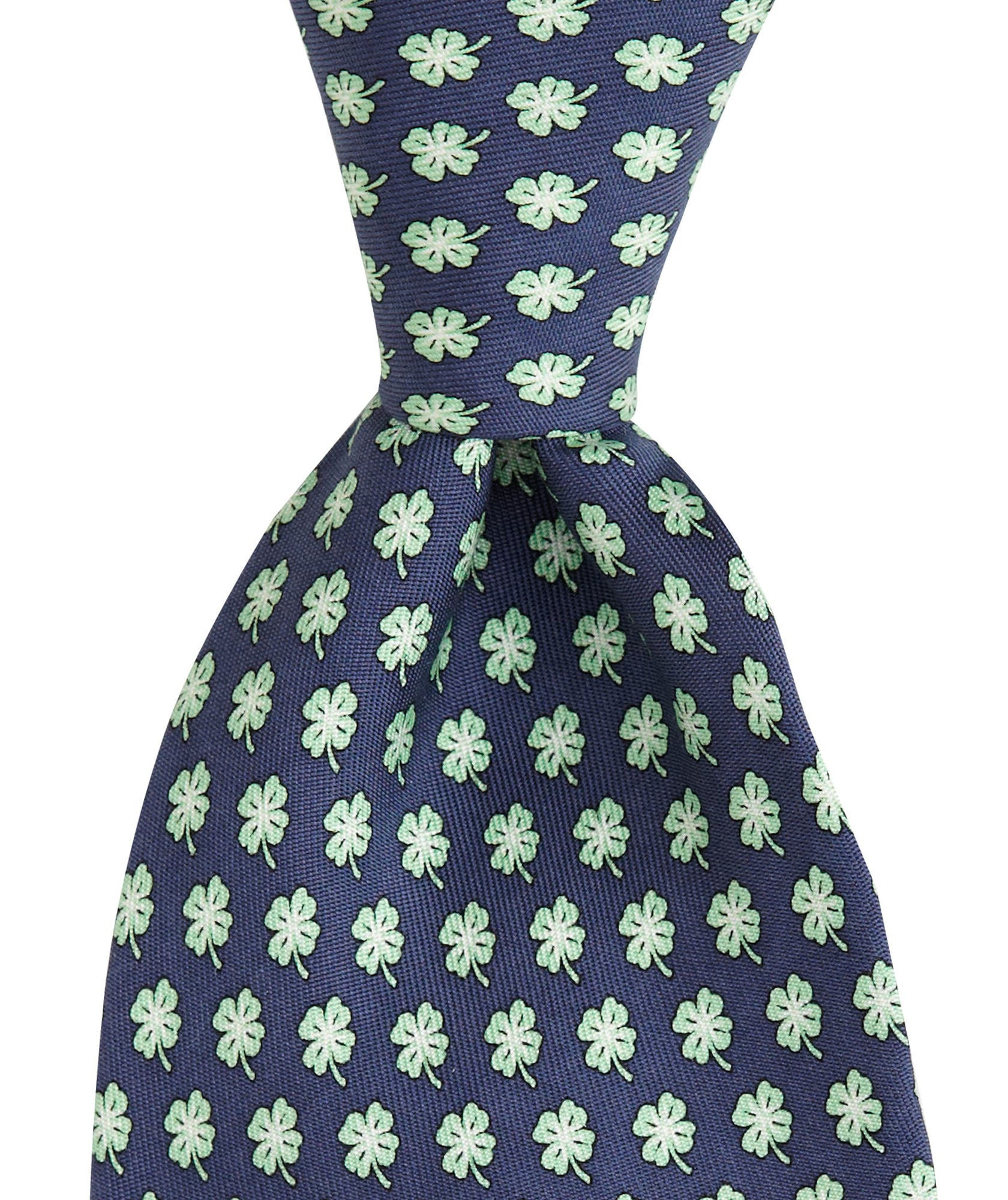 Front View Vineyard Vines Luck of the Irish Tie in Navy