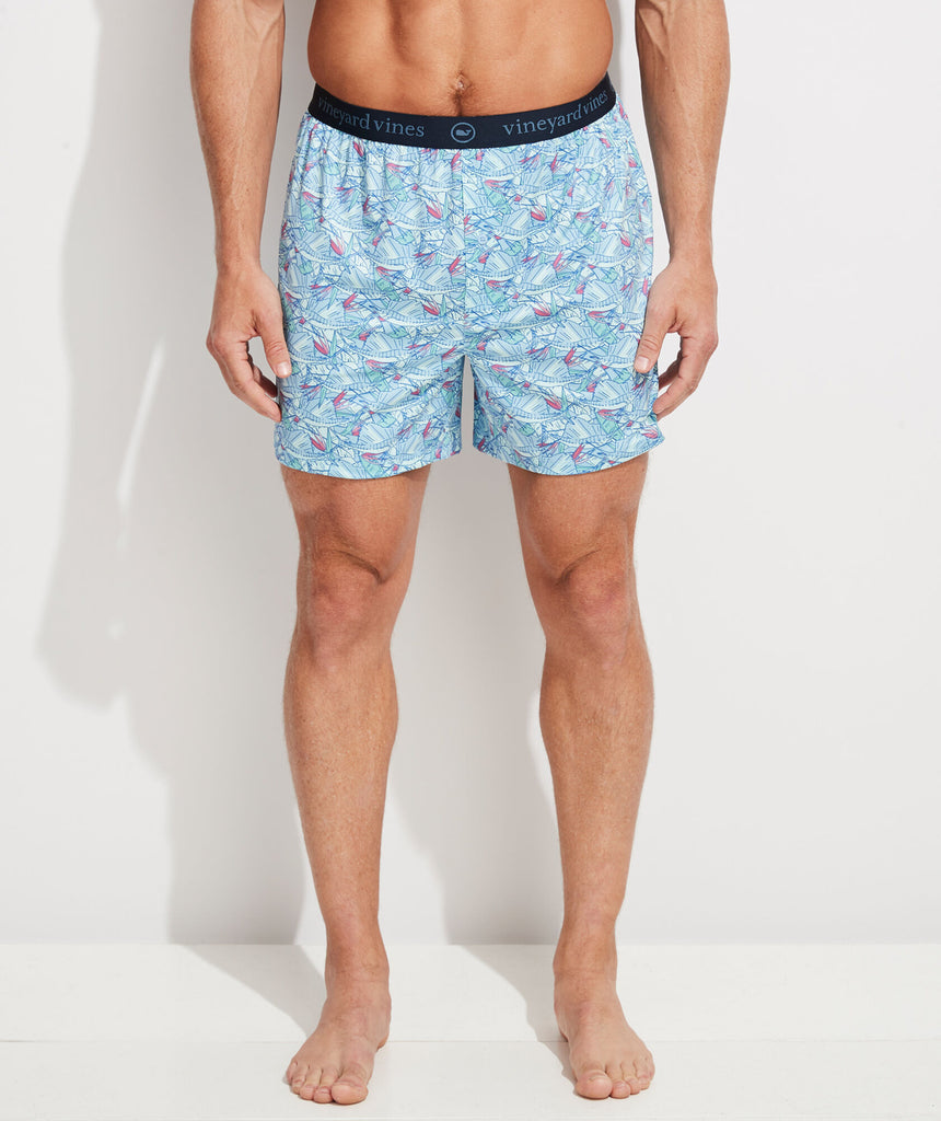 Vineyard Vines Printed Sankaty Boxers - Jake Blue