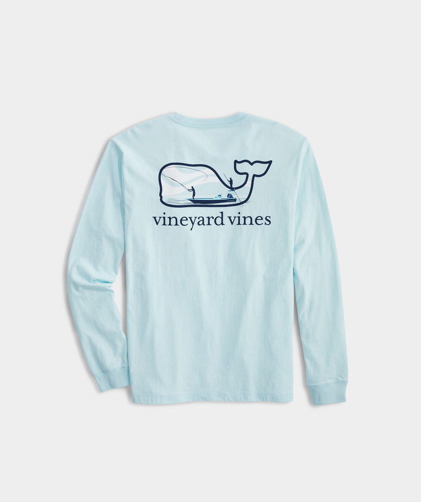 Vineyard Vines Flats Cast Long-Sleeve Pocket Tee - Beachcomber Blue