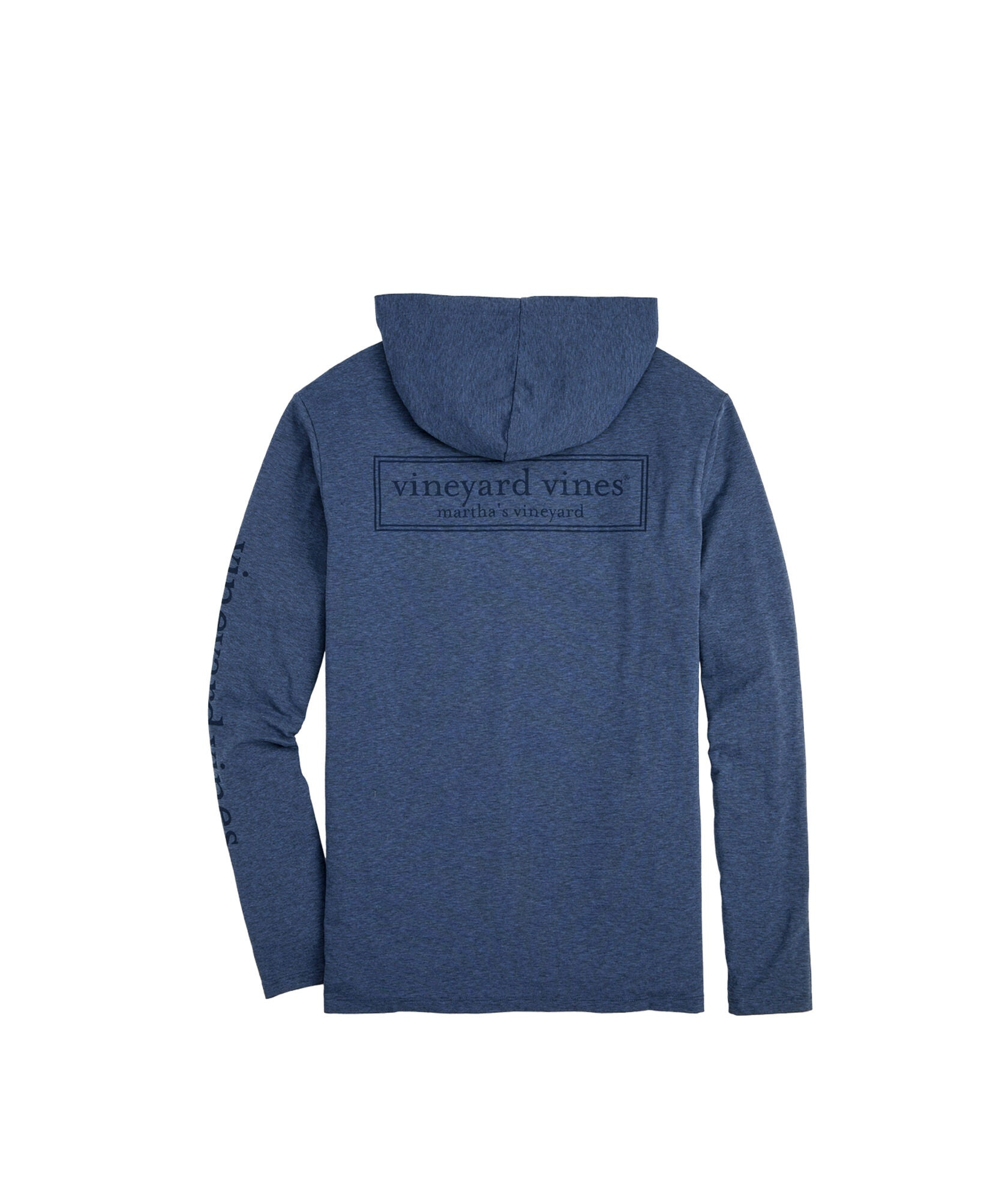 Vineyard Vines Edgartown Tonal Logo Box Long-Sleeve Hoodie Tee - Moonshine