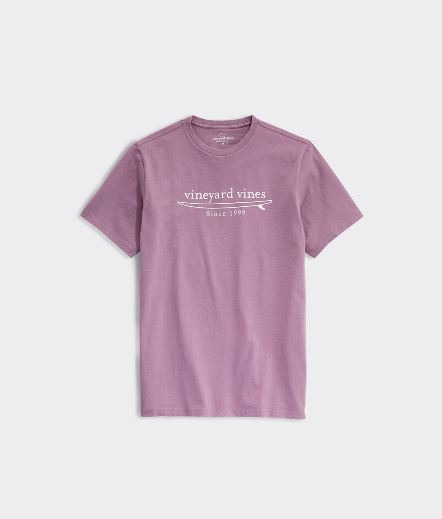 Vineyard Vines Simple Surf Logo Short-Sleeve Tee - Washed Purple