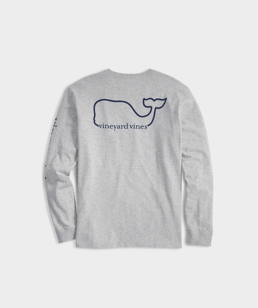 Vineyard Vines Whale Long-Sleeve Pocket Tee - Gray Heather