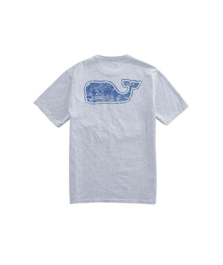 Vineyard Vines Vintage Whale Fill Pocket T-Shirt - Gray Heather