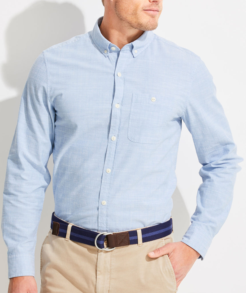 Vineyard Vines Slim Fit Chambray Longshore Button-Down Shirt - Coastline