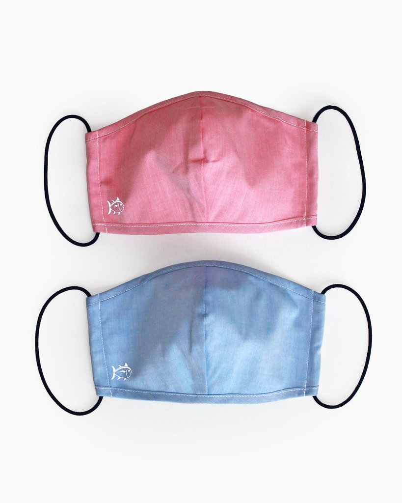 Southern Tide 2-Pack Face Mask Cover - Blue and Red