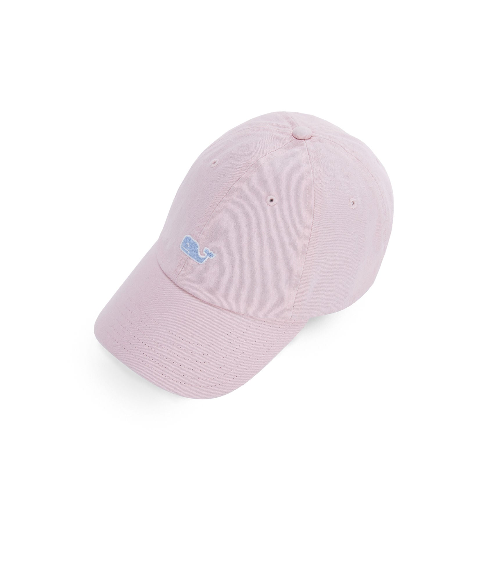 Vineyard Vines Garment Dyed Logo Leather Strap Baseball Hat - Flamingo b2ee7288d35b