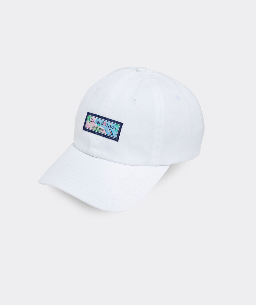 Vineyard Vines Resort Pool Logo Box Women's Baseball Hat
