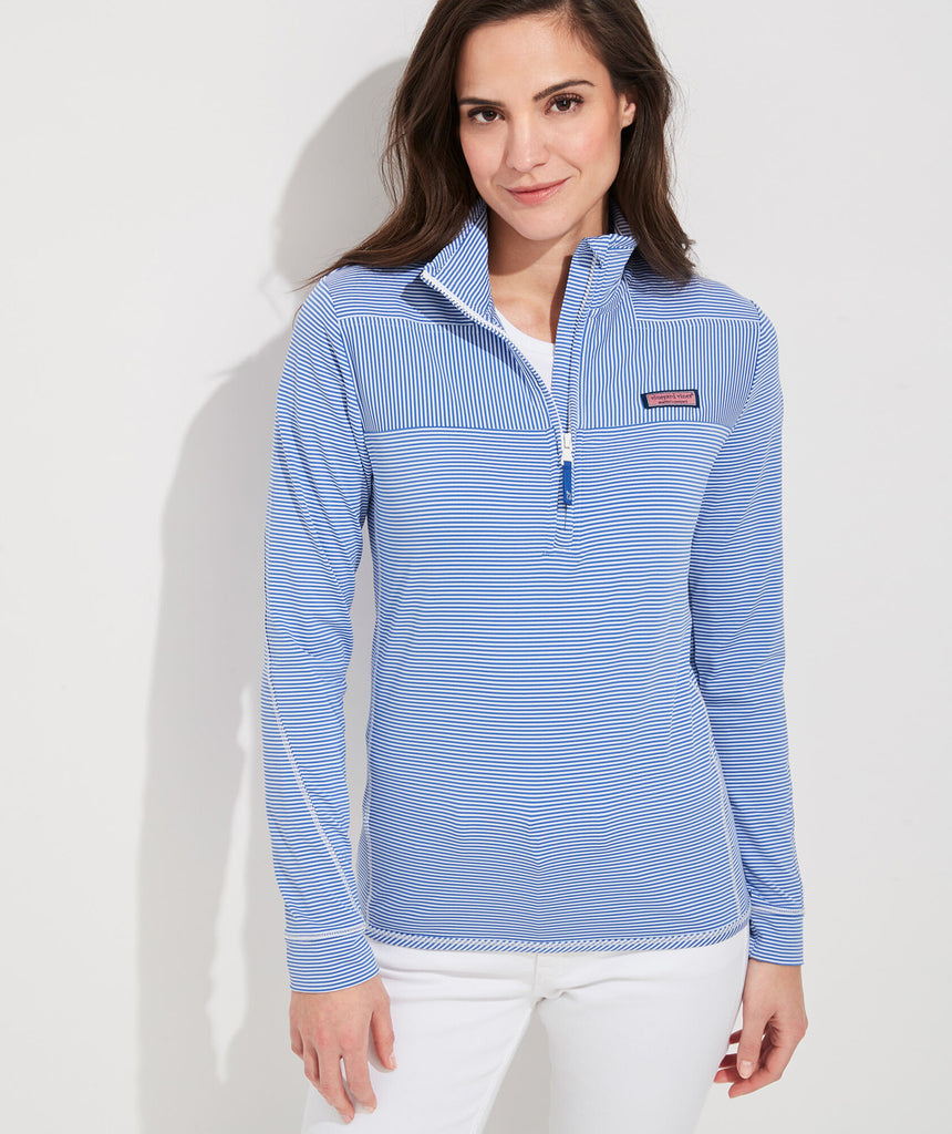 Vineyard Vines Micro Stripe Lightweight Sankaty Shep Shirt - Marlin