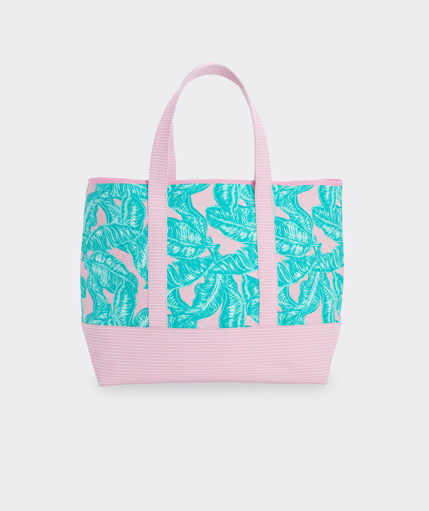 Vineyard Vines Banana Leaf Mixed Print Tote - Hibiscus Palms