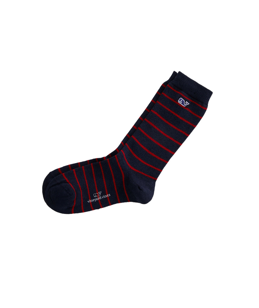 Vineyard Vines Womens Break Stripe Socks - Red Velvet