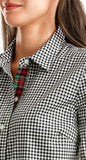 Vineyard Vines Cotton Cashmere Holiday Gingham Button Down - Jet Black
