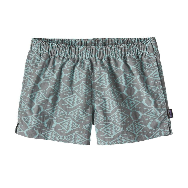 "Patagonia Women's Barely Baggies™ Shorts - 2 1/2"" - Ikat Fish Small: Drifter Grey  Front View"